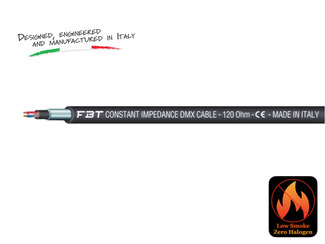 Professional OFC LSZH DMX Installation Cable, 120 OHM, SEZ 2x025, OD.5.4MM